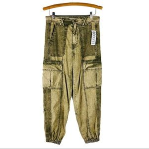 UO green cargo Ledge high waisted jogger pants
